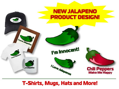 Chili Head gear - t-shirts, mugs, hats, mousepads, and more