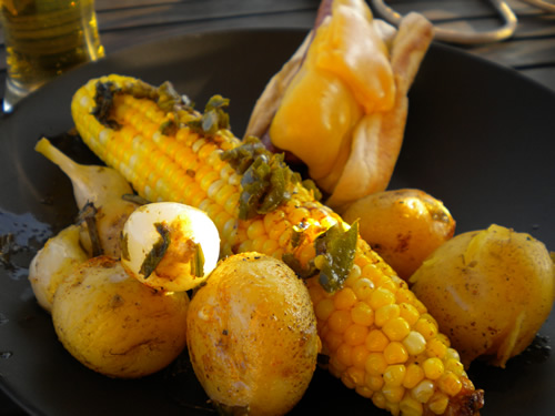 Spicy Jalapeno Grilled Corn on the Cob
