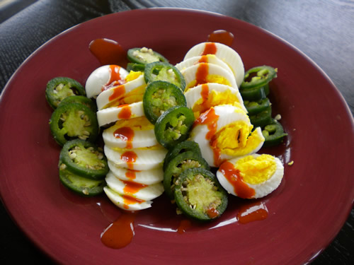 Peppers and Hard Boiled Eggs Recipe