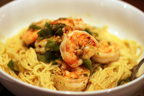how to make scampi pasta