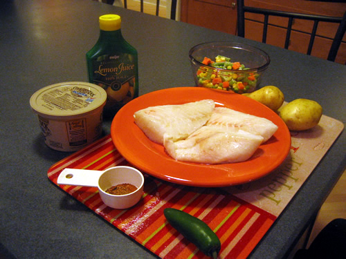 Orange Roughy with Jalapeno Lime Sauce